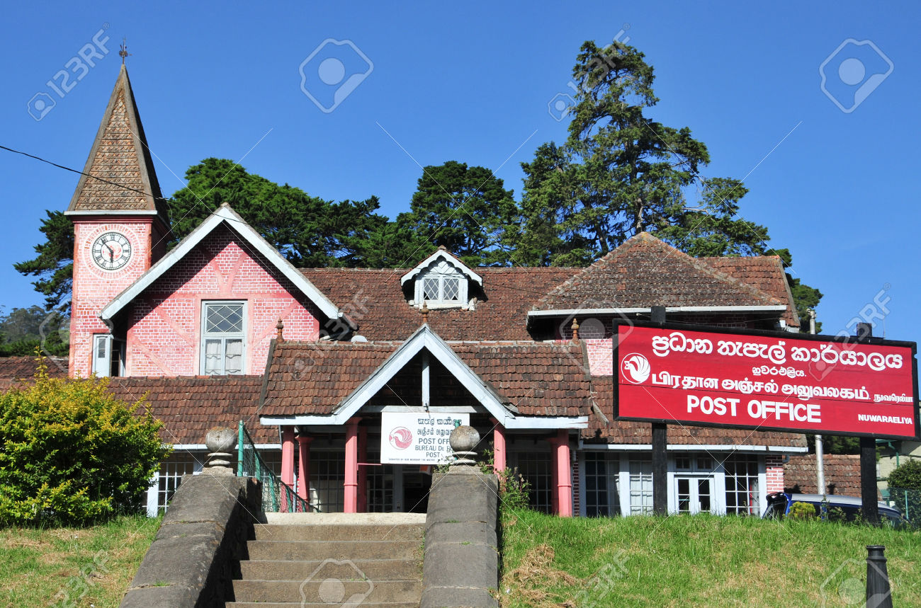 Post office building in the city of Nuwara Eliya, Sri Lanka.