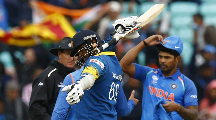 Britain Cricket - India v Sri Lanka - 2017 ICC Champions Trophy Group B - The Oval - June 8, 2017 Sri Lanka's Angelo Mathews celebrates after the match  Action Images via Reuters / Peter Cziborra Livepic EDITORIAL USE ONLY.