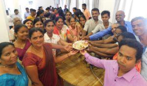 Participants meal prep