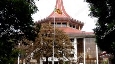 Mandatory Credit: Photo by M A PUSHPA KUMARA/EPA-EFE/Shutterstock (10033316c) Supreme Court complex in Colombo, Sri Lanka 13 December 2018. A seven judge-bench of Sri Lanka's Supreme Court unanimously ruled that the Gazette notification issued by President Maithripala Sirisena on 26 October 2018 dissolving Parliament was inconsistent with the constitution and such a dissolution could be made only when Parliament completes its four-and-a-half year term. Sri Lanka's Supreme Court unanimously ruled dissolving Parliament was inconsistent with the constitution, Colombo - 13 Dec 2018